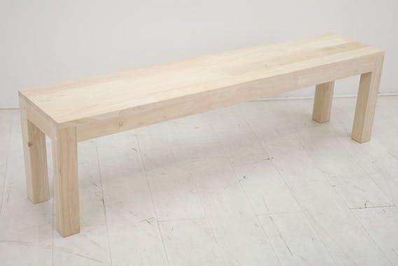 Banc bois moderne hévéa 160cm OLGA
