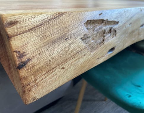 Banc de table à manger bois d'acacia bordure naturelle 100 cm MELBOURNE