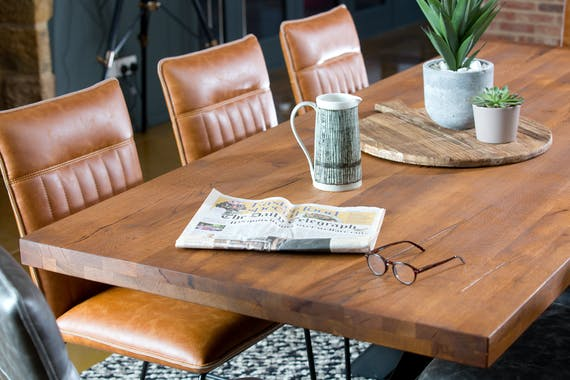 Banc de table chêne massif pieds croisés 200 cm OKA