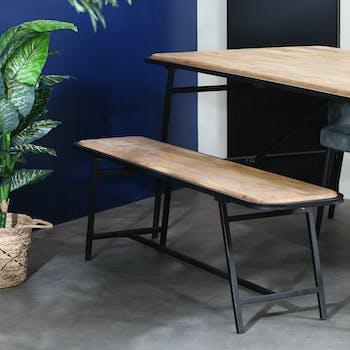 Banc de table en bois de manguier 160 cm CAIRE