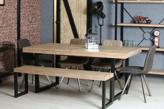 Banc de table en bois recyclé 155 cm AUCKLAND