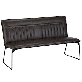 Banc de table industriel gris foncé OKA