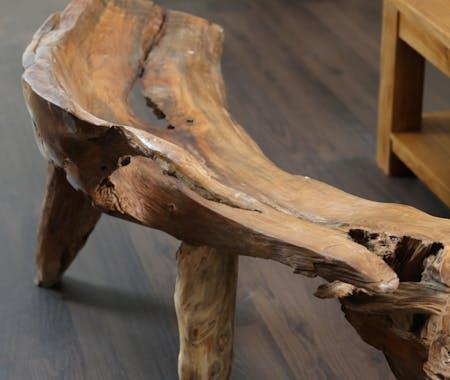 Banc en bois de racine de teck 120 cm