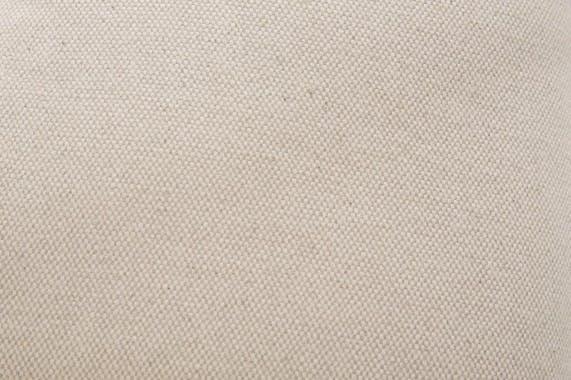Banc / Méridienne capitonné(e) tissu lin coton écru et jute BUTTON