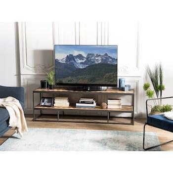 Meuble TV en bois pieds metal de style contemporain