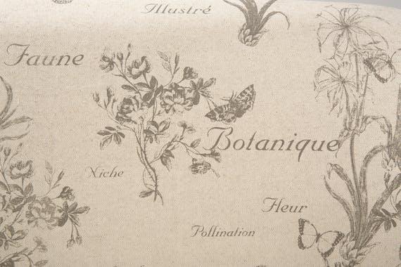 Banquette cabriolet 2 places tissu papillon gris MIRA