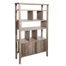 Bibliothèque asymétrique en bois d'acacia HAMILTON