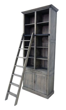 Bibliothèque échelle exotique hévéa 100x240cm TRADITION