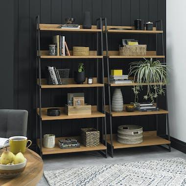 Bibliothèque étagère en bois AUSTIN