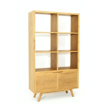 Bibliotheque etagere en bois massif de style vintage