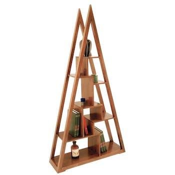 Bibliothèque pyramide originale hévéa 100x190cm MAORI