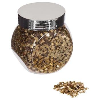 Bocal à confettis étoiles dorées