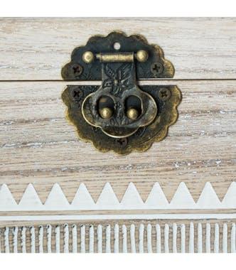 Boîte à bijoux en bois style ethnique