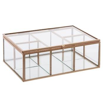 Boîte à bijoux en verre 20x14cm