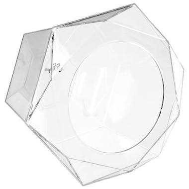 Boite à capsules 60 places héxagonale coloris blanc 21x18xH15cm