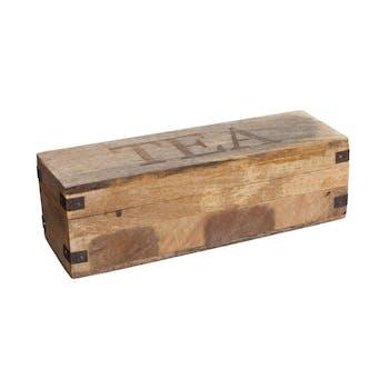 Boîte à thé en bois de manguier