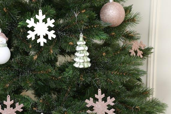 Boite de 25 décors de Noël ton rose doré
