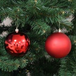 Boite de 4 boules de Noël rouges assorties