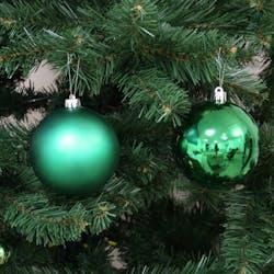 Boite de 4 boules de Noël vertes assorties