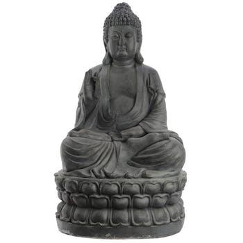 Bouddha déco anthracite 65,5 cm