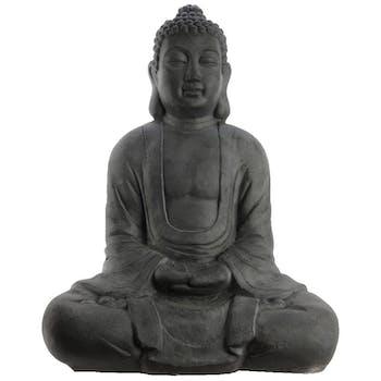 Bouddha déco anthracite 79 cm