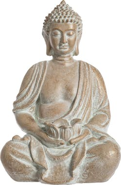 Bouddha en pierre blanchie H39cm
