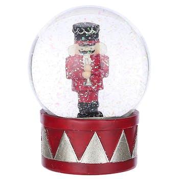 Boule à neige casse-noix rouge 13,5 cm