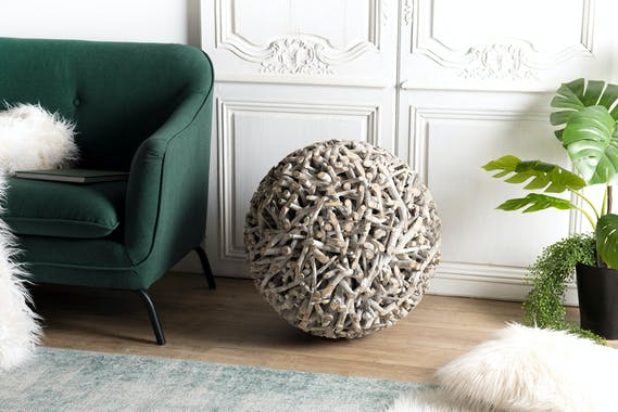 Boule de décoration bois de teck OTTAWA