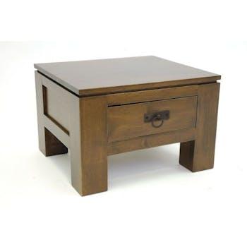Bout de canapé bois massif 1 tiroir HELENA