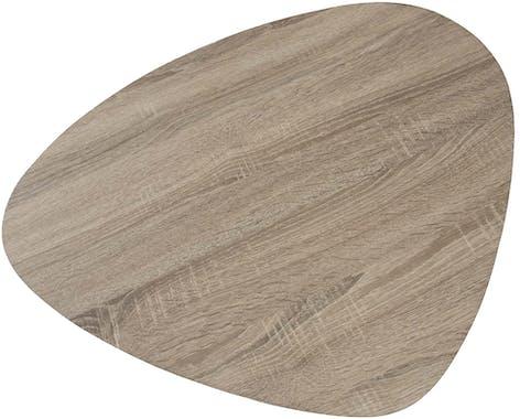 Bout de canapé bois métal forme galet LANDAISE