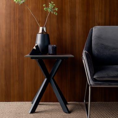 Bout de canapé en verre gris clair OTTAWA