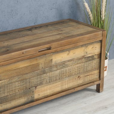 Bout de lit coffre en bois recyclé BRISBANE