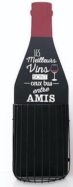 """Bouteille de Vin déco Réserve à bouchons """"Amis"""" H38cm"""