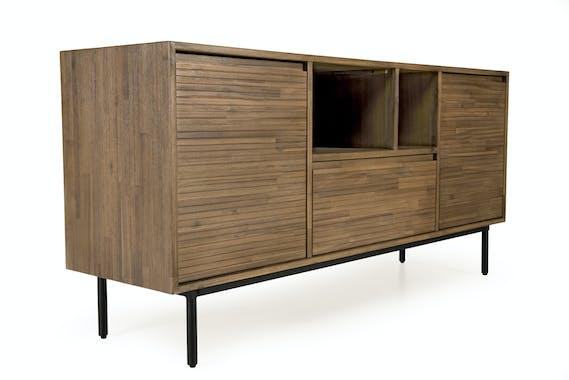 Buffet en bois peids metal deux portes de style contemporain