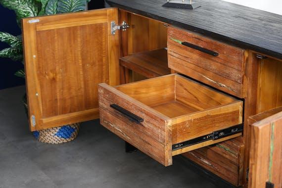 Buffet bois recyclé de bateau PHOENIX