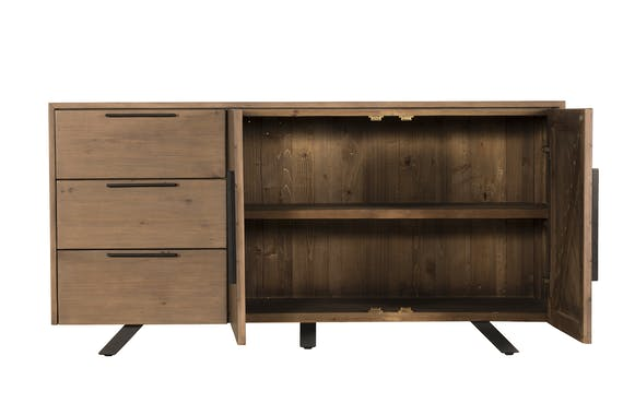 Buffet contemporain bois recyclé VITTORIA