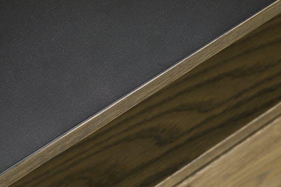 Buffet bahut en bois massif et metal deux portes de style industriel