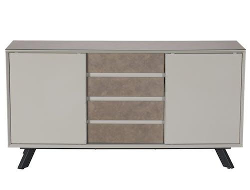 Buffet contemporain en verre gris clair OTTAWA