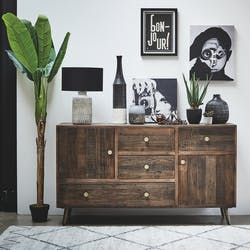 Grand buffet ne bois recycle FSC pieds metal de style contemporain