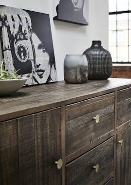 Grand buffet ne bois recycle FSC pieds metal de style contemporain