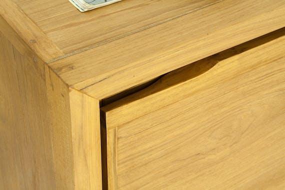 Buffet bahut en bois massif trois portes de style vintage