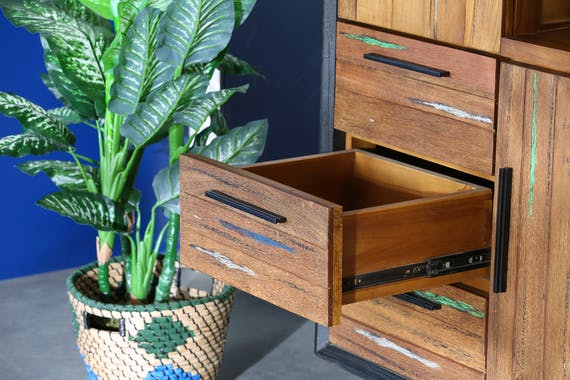 Buffet haut bois recyclé de bateau PHOENIX