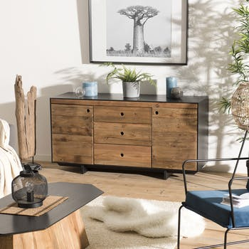 Buffet moderne bois recyclé pin CRACOVIE