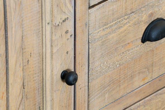 Buffet en bois recycle FSC deux portes de style campagne
