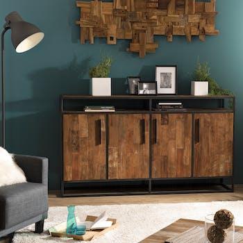 Buffet vintage bois recyclé 4 portes SWING