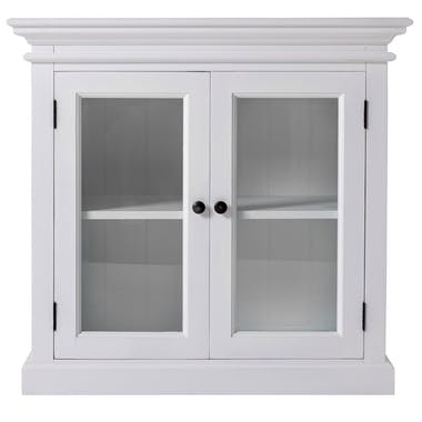 Buffet vitrine blanc 2 portes ROYAN