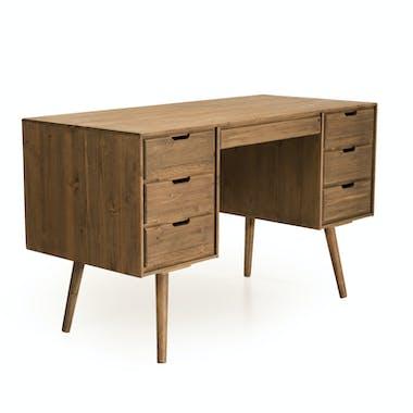 Bureau avec rangement en bois de sapin LIMA