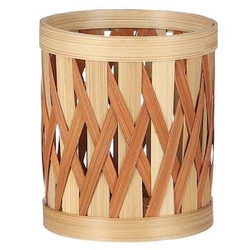 Cache-pot bambou couleur terracotta