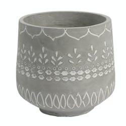 Cache-pot Massaï en ciment D19cmxH17cm
