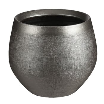 Cache-pot rond argenté 15 cm